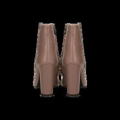 Tronchetti nude in vera pelle, tacco 10 cm, Scarpe, 12D615110VINUDE, 003 preview