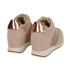 Baskets or rose brillantes compensées, Chaussures, 152821522GLRAOR038, 004 preview
