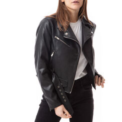 Biker jacket nera , Primadonna, 176520618EPNEROL, 001a
