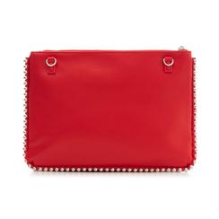 Bustina rossa in eco-pelle con profilo di mini-boules, Borse, 113308956EPROSSUNI, 003 preview