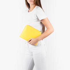Pochette jaune en simili-cuir, Sacs, 155122634EPGIALUNI, 002a