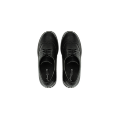 Francesine stringate nere, tacco 9,5 cm, Scarpe, 129320059EPNERO, 004 preview