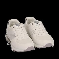 Sneakers en eco-piel color blanco, Zapatos, 157311101EPBIAN035, 002a