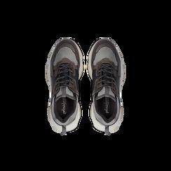Sneakers grigie dad shoes, Scarpe, 124180229TSGRIG, 004 preview