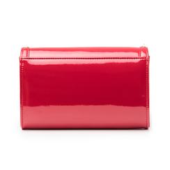Clutch rossa borchiata in vernice, Borse, 145186501VEROSSUNI, 003 preview