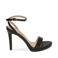 Sandali neri, tacco 10,50 cm , 172127401EPNERO037, 001a
