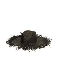 Cappello nero in paglia, Primadonna, 17J901350PGNEROUNI, 001a