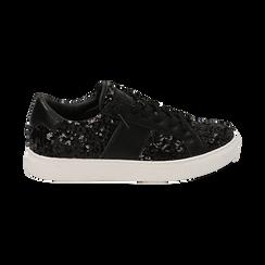 Zapatillas color negro con lentejuelas , Primadonna, 162619071PLNERO035, 001 preview