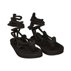 Sandali mare neri in tessuto , Primadonna, 170909004TSNERO035, 002 preview