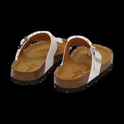 Zeppe bianche in eco-pelle con suola in sughero, Scarpe, 136785202EPBIAN036, 004 preview
