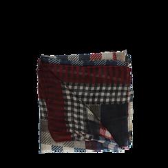 Pashmina beige in tessuto stampa patchwork, Abbigliamento, 14B404027TSBEIG3XL, 001a