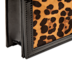 Pochette leopard in microfibra scamosciata con tracolla, Borse, 123308936MFLEOPUNI, 004 preview