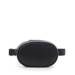 Marsupio nero in eco-pelle, Borse, 145100843EPNEROUNI, 001a