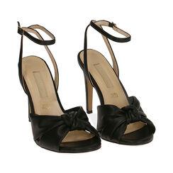 Sandali neri, tacco 10 cm , Primadonna, 172174216EPNERO036, 002a