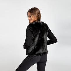 Smanicato eco-fur nero, Saldi, 12B400302FUNERO, 004 preview