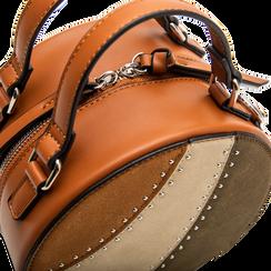 Mini-bag tonda multicolore in ecopelle, Borse, 122404146EPCUOIUNI, 004 preview