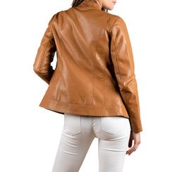 Biker jacket cuoio in eco-pelle, NUOVI ARRIVI, 156501203EPCUOIL, 002 preview