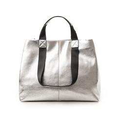 Maxi-bag argento in laminato, Borse, 132384211LMARGEUNI, 003 preview