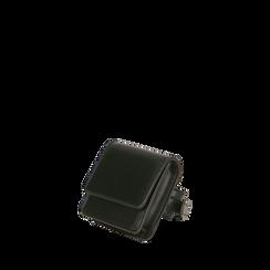 Mini bag nera da polso , Borse, 165102851EPNEROUNI, 002a