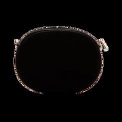 Tracollina nera in microfibra con oblò dorati, Primadonna, 123308609MFNEROUNI, 002 preview