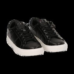Sneakers noires imprimé vipère, Primadonna, 162619071EVNERO036, 002 preview