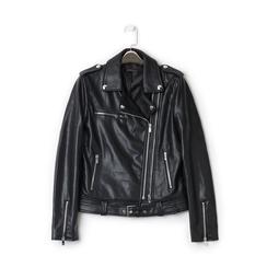 Biker jacket nera in eco-pelle, Primadonna, 136500779EPNEROL, 001a