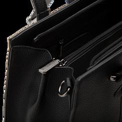 Mini bag nera in ecopelle, Saldi Borse, 125706683EPNEROUNI, 004 preview