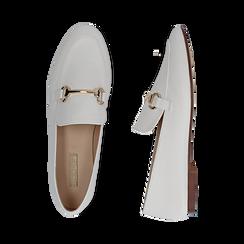 Mocasines eco-piel blanco, Zapatos, 154939181EPBIAN036, 003 preview