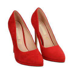 Décolleté rosse in microfibra con plateau, tacco 12 cm , Primadonna, 162106051MFROSS036, 002 preview