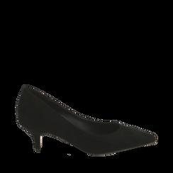 Décolleté nere in microfibra, tacco 5,50 cm , Primadonna, 162187131MFNERO036, 001a