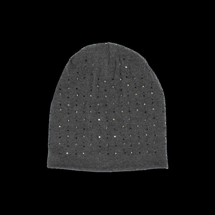 Cappello grigio in tessuto con cristalli, Abbigliamento, 14B406053TSGRIGUNI
