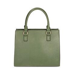 Borsa a mano verde in microfibra , Primadonna, 18D903414MFVERDUNI, 003 preview