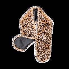Coprispalla in eco-pelliccia leopard,