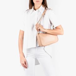 Petit sac porté épaule nude en simili-cuir, Primadonna, 155127201EPNUDEUNI, 002a