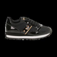 Sneakers nere in vernice, Scarpe, 142619079VENERO, 001 preview