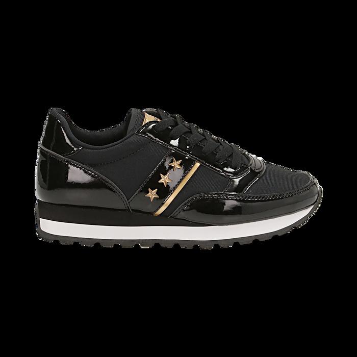 Sneakers nere in vernice, Scarpe, 142619079VENERO