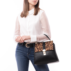 Borsa leopard in eco-pelle, Borse, 14D984147EPLEMAUNI, 002 preview