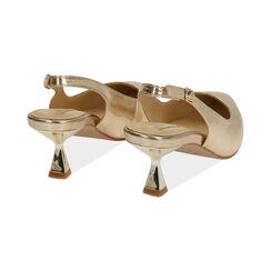 Slingback oro laminato, tacco 6 cm , Primadonna, 174954431LMOROG035, 004 preview