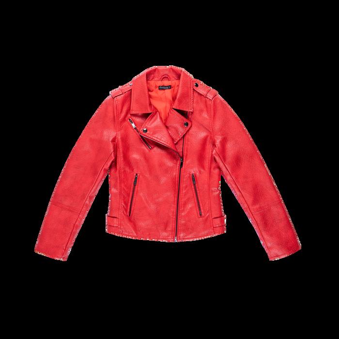 Giacca corta rossa ecopelle, Abbigliamento, 126501151EPROSSL
