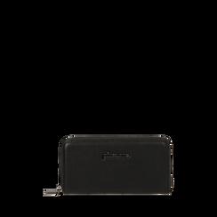 Portafogli nero bottalato  , IDEE REGALO, 165122519ELNEROUNI, 001a