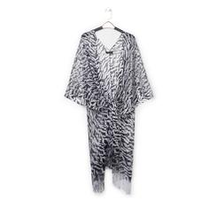Poncho nero/argento in tessuto laminato , Abbigliamento, 13B445053LMNEARUNI, 001a