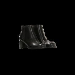 Tronchetti neri con banda elastica, tacco 4 cm, Primadonna, 128900600VINERO036, 002