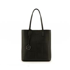 Shopper nera in eco-pelle, Primadonna, 153782784EPNEROUNI, 001 preview
