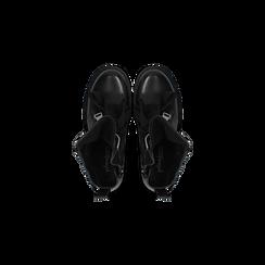 Anfibi Combat Boots neri, tacco basso, Scarpe, 12A782732EPNERO, 004 preview