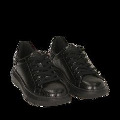 Sneakers noires imprimé vipère, Primadonna, 162602011EVNERO035, 002a