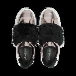 Sneakers canna di fucile Slip-on con dettagli faux-fur e borchie, Primadonna, 126103025SPCANN, 004 preview
