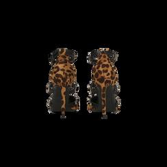 Décolleté leopard con cinturino a T borchiato, tacco stiletto, tacco 10 cm, Scarpe, 122146820MFLEOP, 003 preview