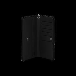 Portafoglio nero in eco-pelle con laccetto per il polso, Borse, 133723651EPNEROUNI, 003 preview