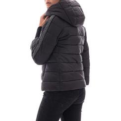Piumino nero in nylon, Abbigliamento, 146501163NYNERO3XL, 002a