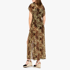 Poncho leopard in tessuto, Primadonna, 150400013TSLEOPUNI, 002a